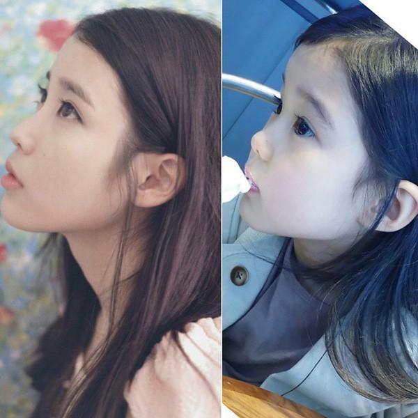 Góc nghiêng của hai người cũng có nhiều nét tương đồng.