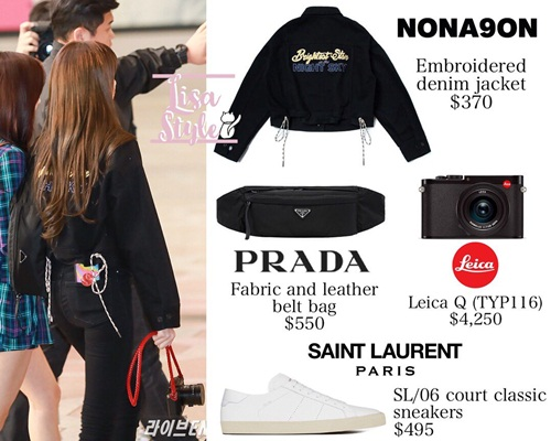 Nhìn set đồ của Lisa có vẻ đơn giản với cả cây đen nhưng thực tế cô nàng đầu tư hàng chục triệu vào phụ kiện như giày, túi.
