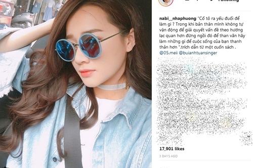 Những status ẩn ý trên Instagram giả mạo của Nhã Phương hút hàng chục nghìn lượt yêu thích.