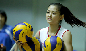 Hoa khôi bóng chuyền cao 1,74 m xứng danh 'mỹ nữ vạn người mê'