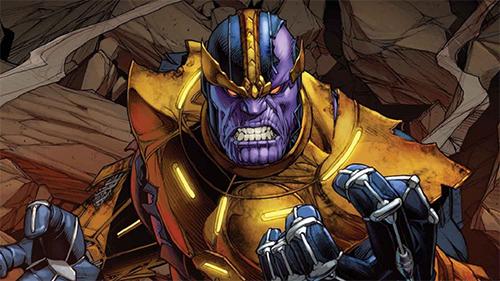 Tạo hình của Thanos trong truyện tranh.