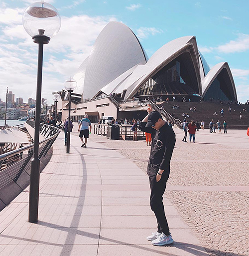 Trịnh Thăng Bình khoe lần thứ tư check-in ở Sydney.