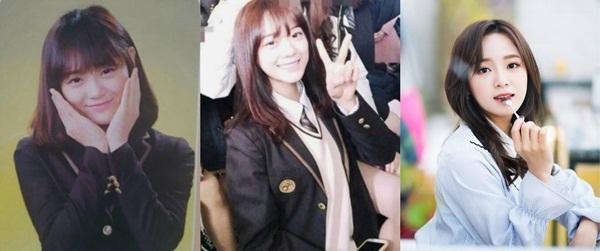 Se Jeong đang là ngôi sao mới nổi của làng quảng cáo xứ Hàn. Ảnh tốt nghiệp của mỹ nhân Gugudan giống với ảnh quảng cáo của thương hiệu đồng phục.