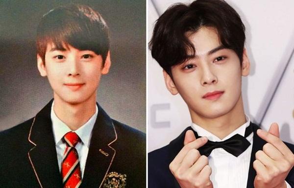 Con nhà người ta Cha Eun Woo không chỉ có ngoại hình đẹp mà thành tích học tập cũng rất xuất sắc. Mỹ nam của Astro giống như chàng hoàng tử bước ra từ truyện tranh khi còn đi học.
