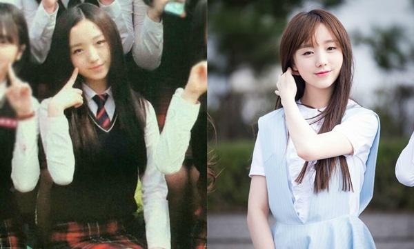 Kei là hìn mẫu lý tưởng của phái nam Hàn vì nét đẹp ngây thơ đúng chuẩn tình đầu. Khi còn học cấp 3, thành viên Lovelyz đã ra dáng nữ thần, dù chỉ trang điểm nhẹ vẫn nổi bật.