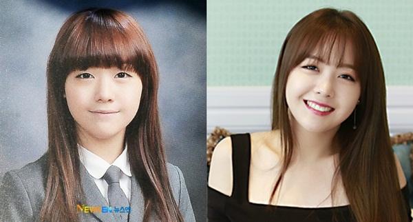 Nếu nói bức ảnh bên trái là Min Ah ở thời điểm hiện tại thì cũng có nhiều fan tin. Mỹ nhân của Girls Day có một bức ảnh kỷ yếu đáng tự hào.
