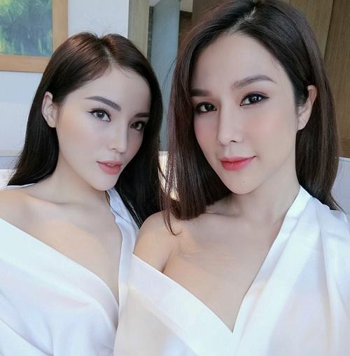Chơi thân với nhau lâu ngày nên Kỳ Duyên và Diệp Lâm Anh ngày càng giống chị em từ gương mặt đến phong cách.