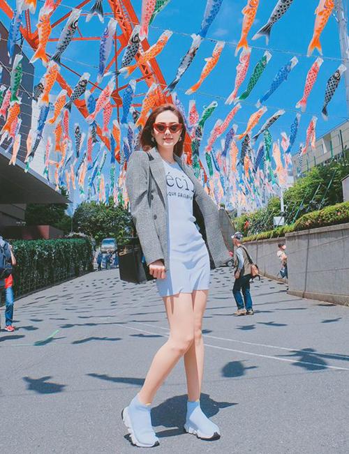 Minh Hằng tranh thủ tận hưởng những ngày nghỉ lễ với chuyến du lịch đến Nhật Bản.