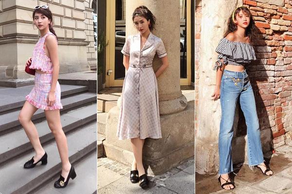 Vòng quanh châu Âu, người đẹp Hà thành lại chiêu đãi fan bằng loạt váy áo đậm chất hoài cổ, toát lên vẻ thanh lịch.