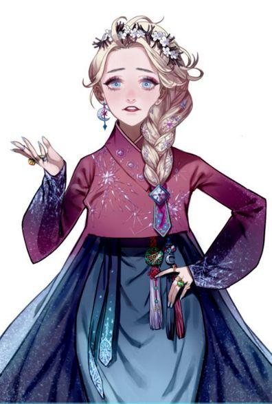 12 sao nữ khi mặc trang phục Hanbok truyền thống của Hàn - 9