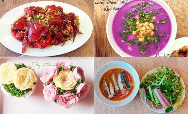 Elly Trần có cả một album đồ ăn do chính tay cô chế biến trên Facebook, món nào trông cũng ngon mắt chẳng khác gì nhà hàng.