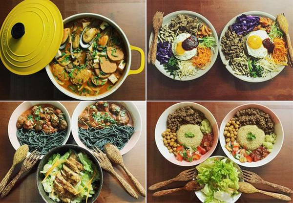 Cô nàng rất giỏi chế biến các món ăn Tây giàu dinh dưỡng, tốt cho sức khỏe. Cách Kaity Nguyễn trình bày món ăn thậm chí trông chuyên nghiệp đến mức ngoài tiệm chưa chắc đã bằng.