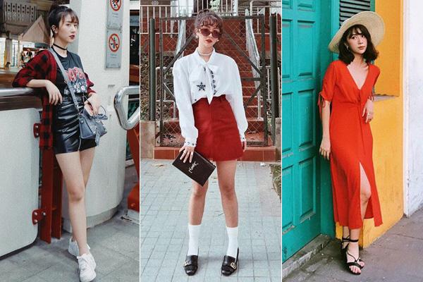 Đặt chân đến các nước châu Á, nữ hoàng street style chuyển sang diện những món đồ màu sắc bắt mắt, kiểu dáng hiện đại, năng động hơn.