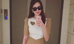 Thu Thảo diện váy khoe eo 'con kiến' một tháng sau sinh