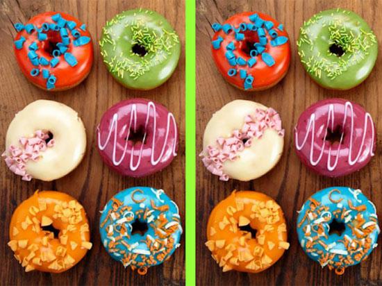 Tinh mắt soi điểm khác biệt với những chiếc bánh trong 30 giây - 1