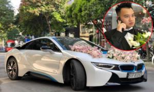 Dàn xe sang xếp hàng chờ rước cô dâu Diệp Lâm Anh