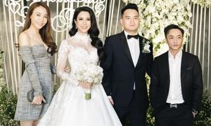 Đàm Thu Trang - Cường Đô La dự đám cưới Diệp Lâm Anh