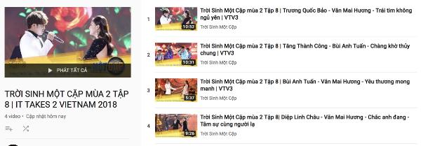 YouTube chương trình Trời sinh một cặp ngưng đăng tải phần thi của đội Phạm Anh Khoa.