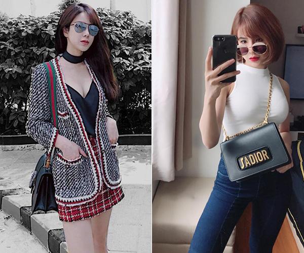 Người đẹp sở hữu bộ sưu tập túi xách là ước mơ của mọi cô gái vì trong đó có những chiếc túi được xếp vào hàng IT Bag như Jadior, Gucci Sylvie, Chanel Boy, Diorama... Giá của những chiếc túi này từ 50 triệu đồng đến cả trăm triệu đồng một chiếc.