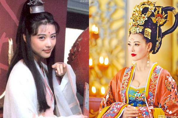 Diệt Tuyệt sư thái trong phiên bản mới sẽ được Châu Hải My thể hiện. Nữ diễn viên sinh năm 1966 là sao nữ đình đám Hong Kong một thời. Cô từng được đánh giá cao với vai Chu Chỉ Nhược trong bản phim 1994 (ảnh trái). Qua 24 năm, Châu Hải My lại đóng Ỷ thiên đồ long ký nhưng với vai Diệt Tuyệt sư thái. Trước đó, cô gây chú ý khi đóng Dương Phi trong Võ Mị Nương truyền kỳ (ảnh phải), khoe nhan sắc mặn mà. Châu Hải My được gọi là Diệt Tuyệt sư thái đẹp nhất lịch sử.