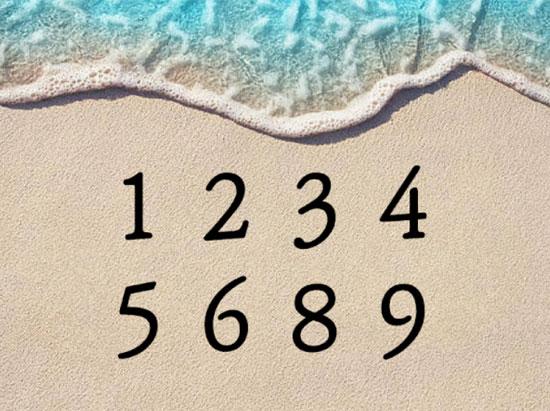 Chỉ 5 giây, bạn có thể tìm ra con số còn thiếu?