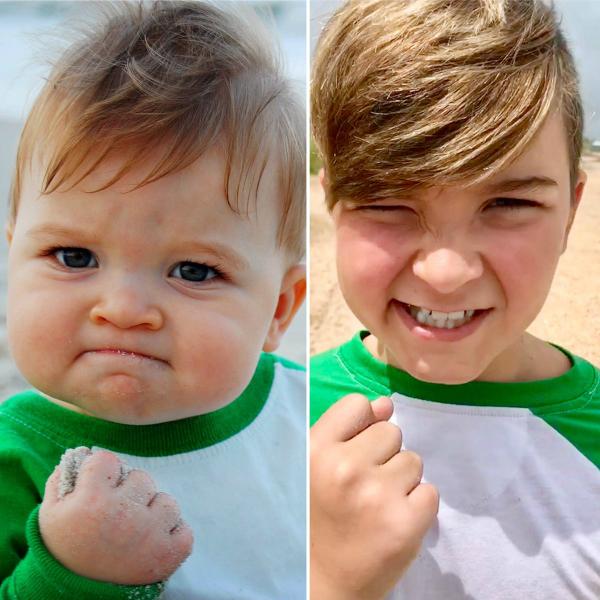 Nổi tiếng với biệt danh Success Kid, Sammy Griner trở thành hình mẫu để tiếp thêm động lực cho vô vàn cư dân mạng. Bức ảnh được chụp bởi mẹ của Sammy khi cậu bé mới 11 tháng tuổi. Nay Sammy đã 11 tuổi.