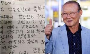 Những bức thư tay mừng sinh nhật học trò của HLV Park Hang-seo