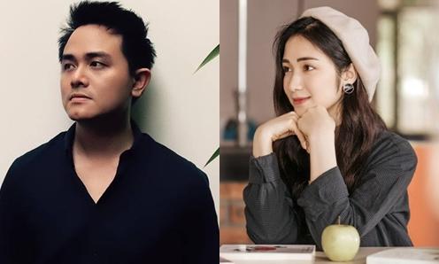 Hòa Minzy và nhạc sĩ Vũ Huy Hoàng.