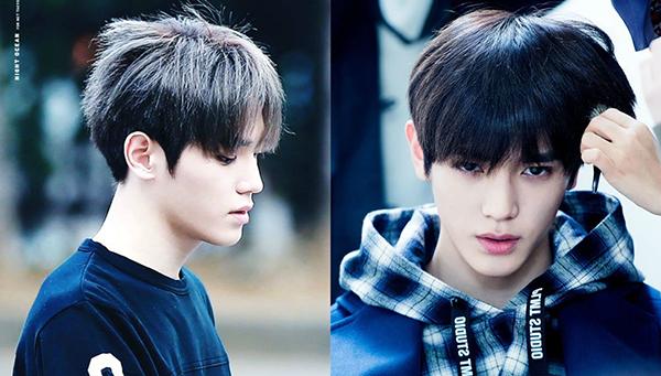 Những lớp tóc gãy, cháy vì tẩy của Tae Yong(NCT) biến mất hoàn toàn nhờ máy là, dầu dưỡng, gel.