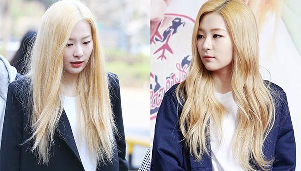 Sự thật sau mái tóc óng mượt như mật ong của Seul Gi (Red Velvet) là một mái tóc hư tổn nặng vì tẩy nhuộm.