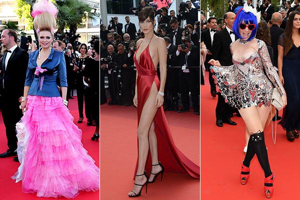 Dù đưa ra những quy tắc như bắt buộc đi giày cao gót nhưng Cannes lại không quá ngặt nghèo trong việc kiểm soát thiết kế trang phục lên thảm đỏ. Nhiều stylist nhận xét, so với các lễ trao giải như Oscar, Quả cầu vàng thì LHP này thoải mái hơn nhiều, cho các người đẹp thích gì mặc nấy, bất kể là hở hang đến đâu. Đây cũng là lý do mà các sao quốc tế khi tham dự LHP Cannes không ngại diện những bộ cánh dài cả mét, kiểu dáng phức tạp hoặc khoe thân táo bạo.