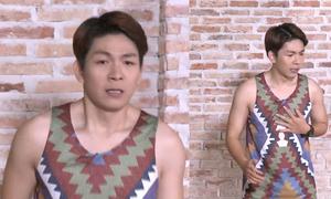 Kelvin Khánh mướt mồ hôi, khổ sở tập Aerobic