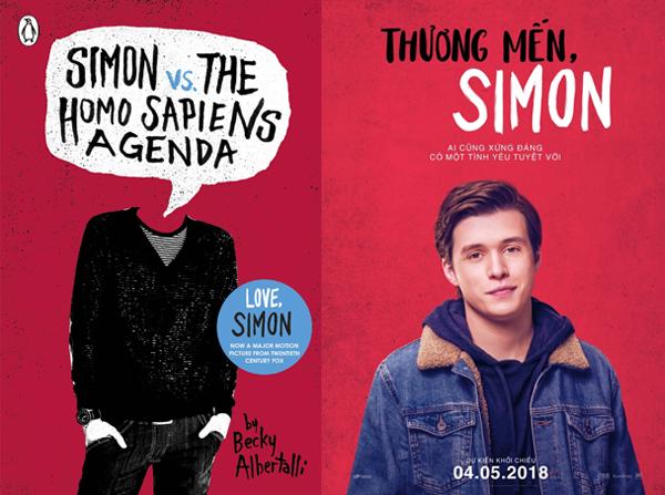 Bìa tiểu thuyết (bên trái) và poster phim (bên phải)