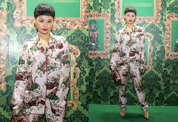 Người đẹp còn đi tiệc với bộ cánh hàng hiệu nhưng trông chẳng khác gì pyjama.