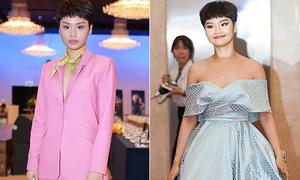 Miu Lê liên tục mặc xấu từ khi cắt tóc tém như con trai