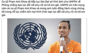 Quỹ dân số LHQ tại Việt Nam gỡ hình ảnh Phạm Anh Khoa khỏi fanpage