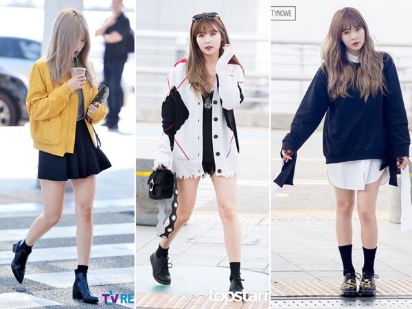 Dù style quyến rũ gợi cảm của Hyuna đã quá quen thuộc với các fan Kpop, cô nàng vẫn có những khoảnh khắc diện những outfit nhí nhảnh như học sinh trung học. Từ kiểu mặc áo giấu quần, mix chân váy với áo khoác hay diện váy yếm đều được nữ ca sĩ cực yêu thích.