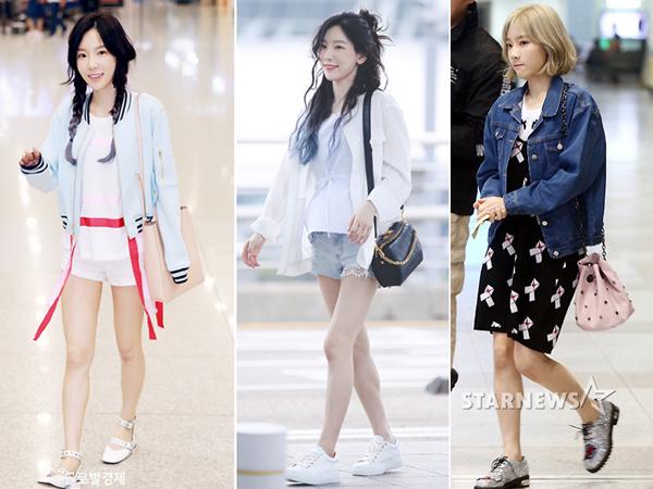 Đã bước sang tuổi 30, chị đại Tae Yeon vẫn khiến fan ngỡ như những cô nàng tuổi teen nhí nhảnh đáng yêu nhờ gu ăn mặc siêu cute. Cộng thêm gương mặt baby búng ra sữa cùng làn da trắng như sữa, cô nàng cực ăn nhập với những outfit teen như thế này.