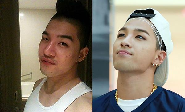 Tae Yang nếu không được tút tát bằng phấn nền thì làn da cũng có khuyết điểm mụn, vết thâm như bao chàng trai bình thường.
