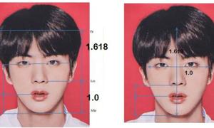 Jin (BTS) có gương mặt đạt chuẩn tỷ lệ vàng