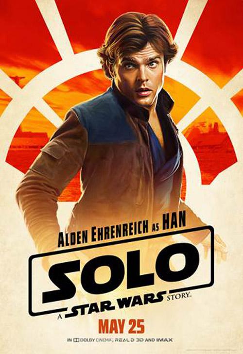 Alden Ehrenreich trong vai chàng phi công lông bông Han Solo