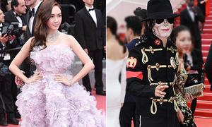 Jessica diện đầm 'sến rện', Michael Jackson 'tái xuất' trên thảm đỏ Cannes