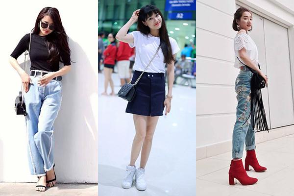 Thời trang đời thường của Nhã Phương gắn liền với những trang phục năng động, có mức giá bình dân. Cũng vì thế nên cô nàng trông giản dị chẳng khác gì bao cô gái bình thường khác.