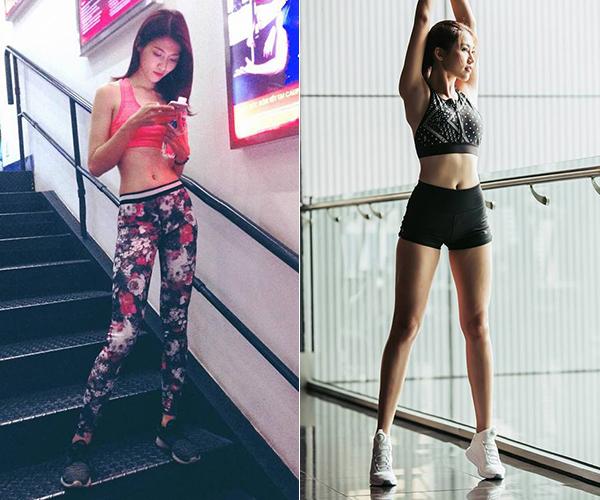 Sau 2 năm kiên trì tập gym, các số đo của Quỳnh Châu dần thay đổi. Từ một cô nàng mỏng như lá lúa, chân dài sinh năm 1994 dần trở nên gợi cảm hơn, đường cong được định hình rõ rệt.