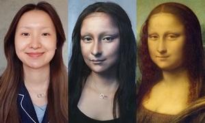 Cô gái Trung Quốc với màn hóa trang 'thần sầu' biến thành Mona Lisa