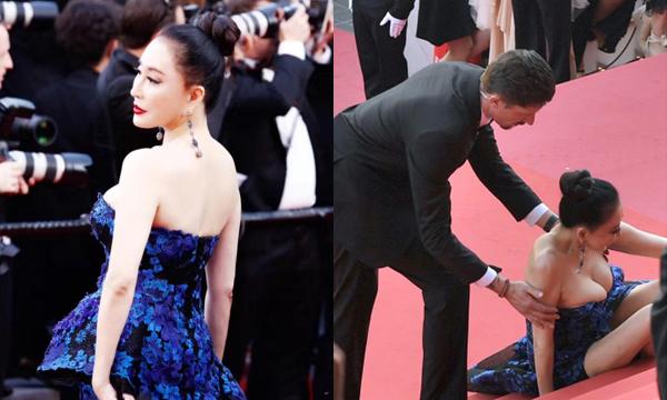 Những lần làm lố bị chê cười của sao châu Á trên thảm đỏ Cannes 2018