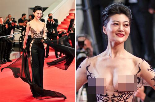 Những lần làm lố bị chê cười của sao châu Á trên thảm đỏ Cannes 2018 - 4