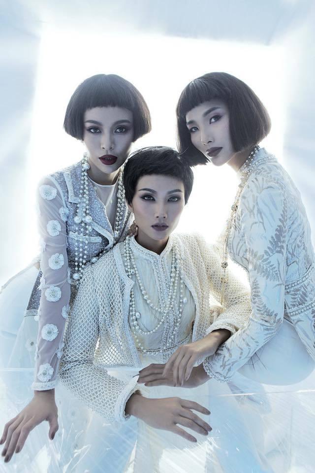 """<p> Bộ hình của Top 3 Hoa hậu Hoàn vũ Việt Nam 2017 với trang phục của NTK Công Trí cũng là một trong những photoshoot """"để đời"""" của Mì Gói.</p>"""