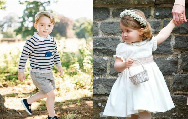 Hoàng tử George và công chúa Charlotte.