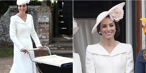 Kate từng diện chiếc váy này tại hai sự kiện quan trọng trước đây.